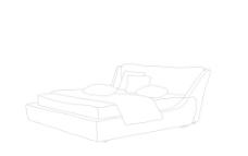 線描軟床圖片