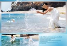 婚纱海景模板图片