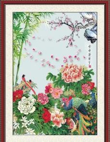 古典 牡丹花图片