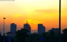 夕阳日落西图片