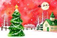 冬天圣诞树图片