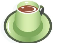 漂亮的咖啡杯矢量图图片