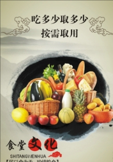 食堂文化展板图片